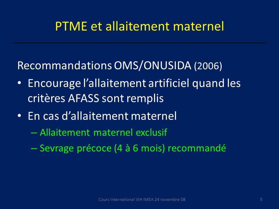 PTME et allaitement maternel