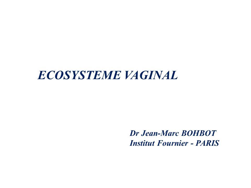 ECOSYSTEME VAGINAL Dr Jean-Marc BOHBOT Institut Fournier - PARIS