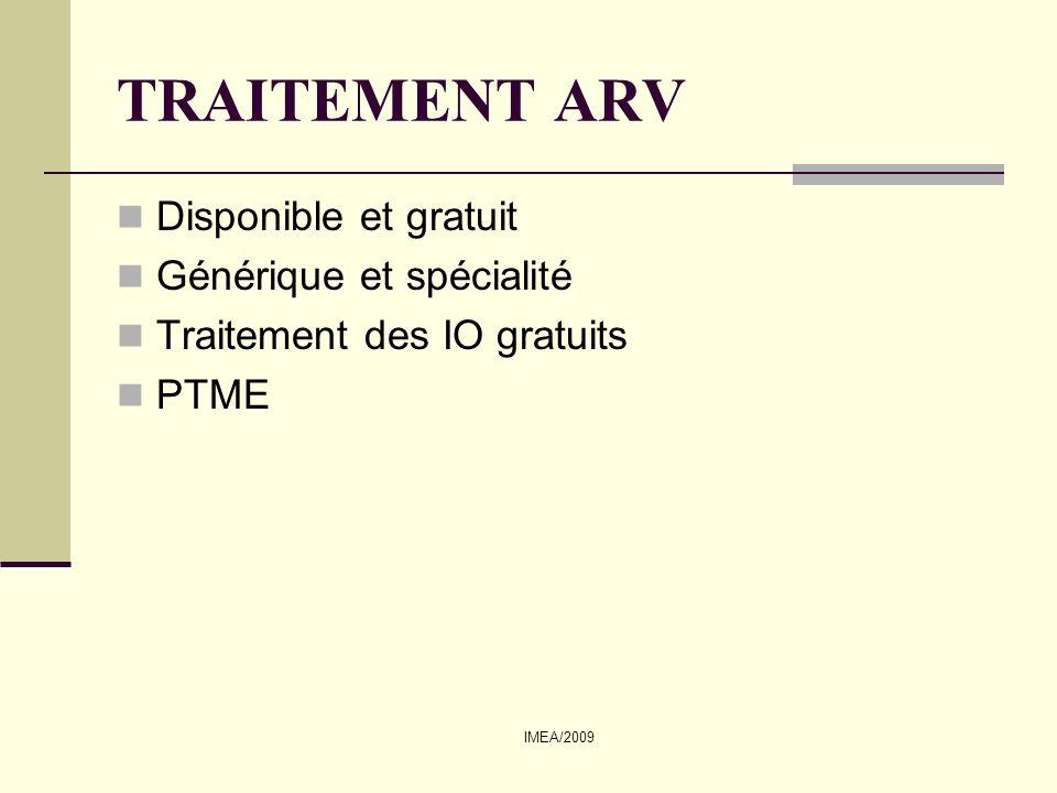 TRAITEMENT ARV Disponible et gratuit Générique et spécialité