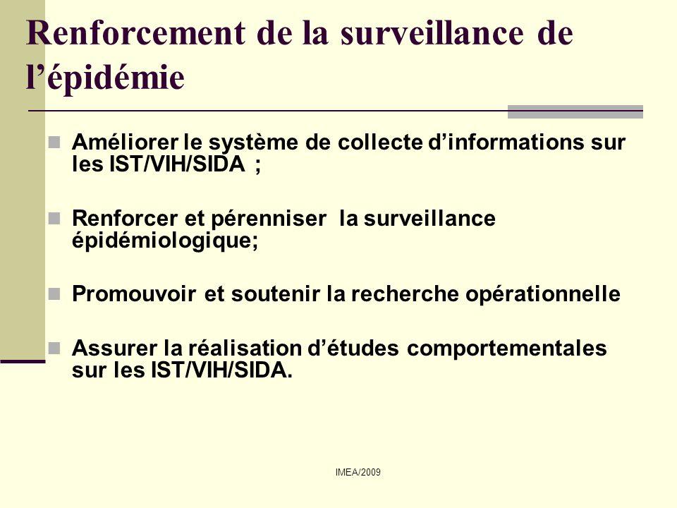 Renforcement de la surveillance de l'épidémie