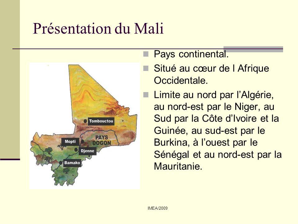 Présentation du Mali Pays continental.