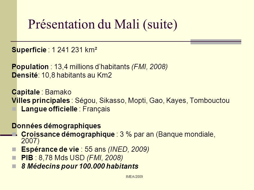 Présentation du Mali (suite)