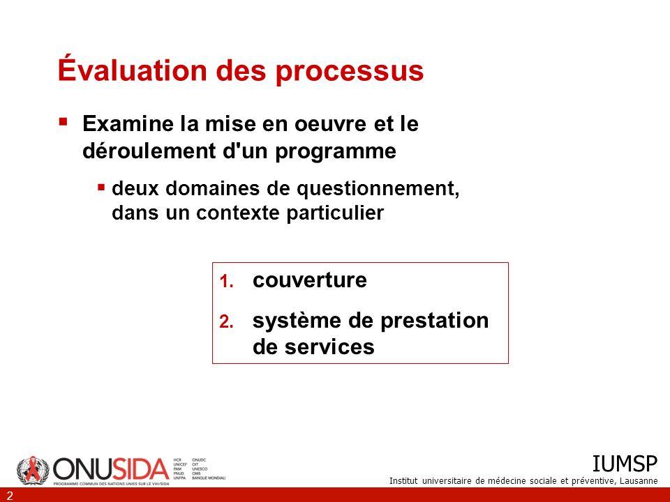 Évaluation des processus