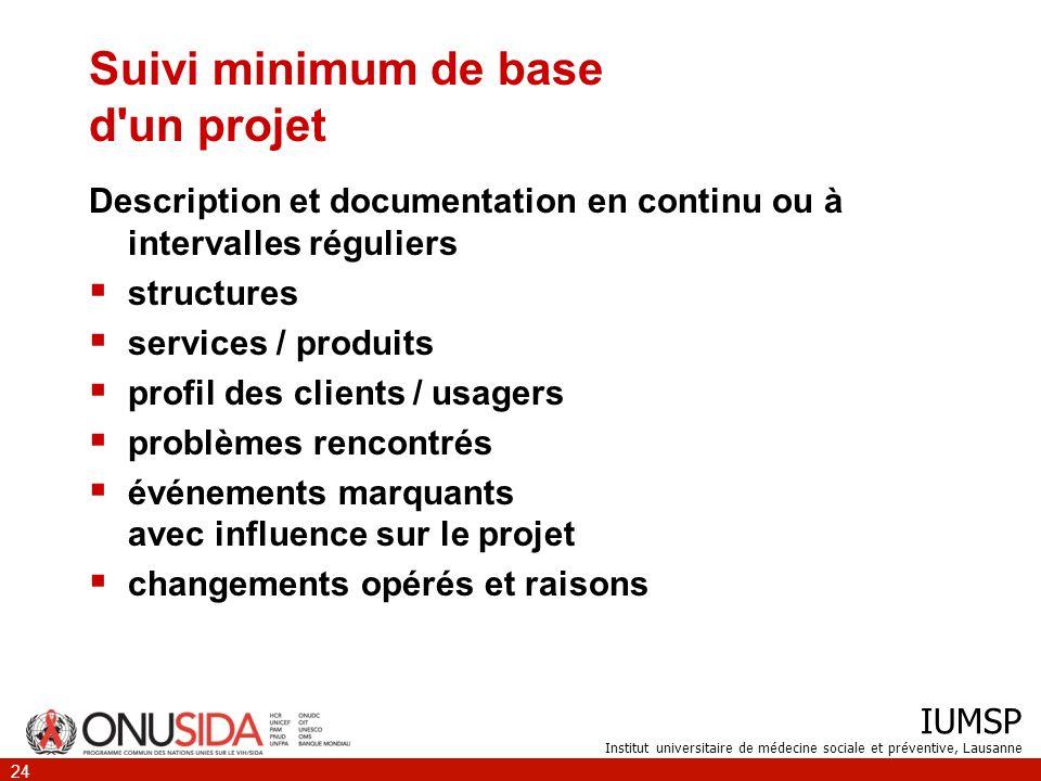 Suivi minimum de base d un projet