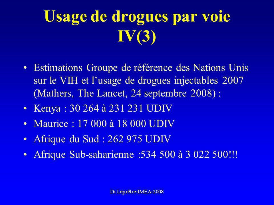 Usage de drogues par voie IV(3)