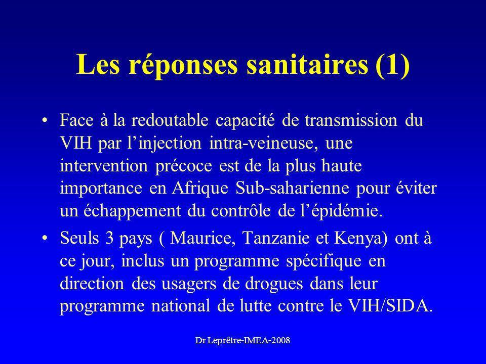 Les réponses sanitaires (1)