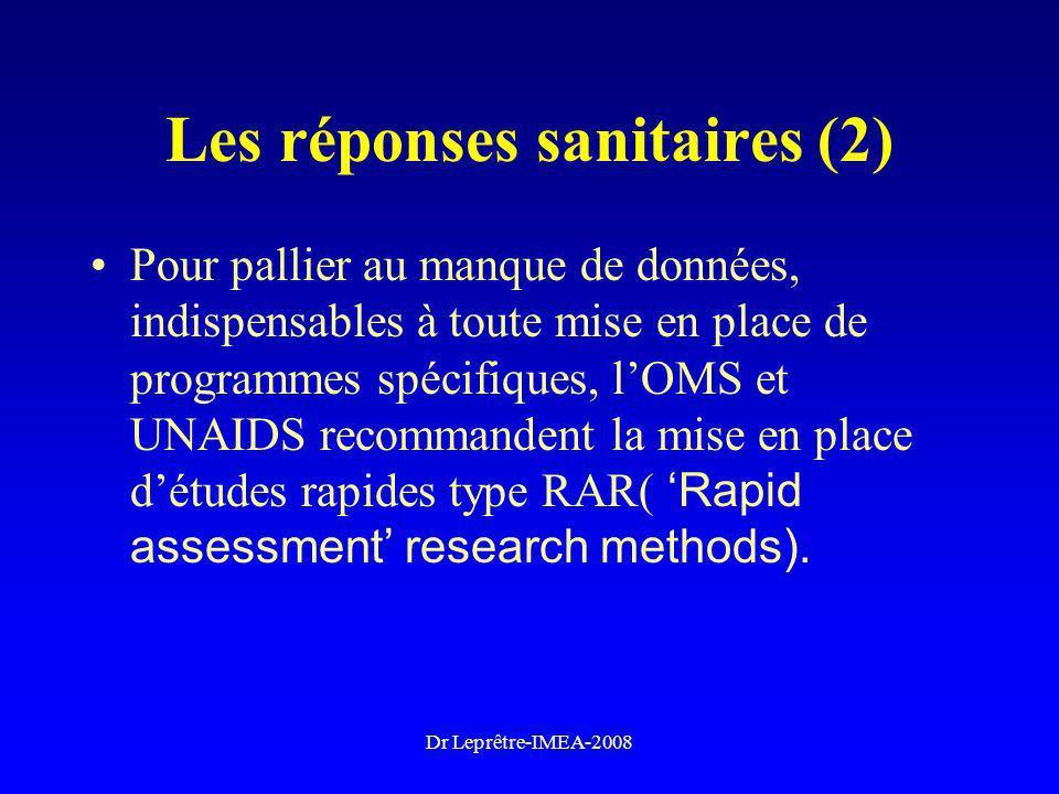 Les réponses sanitaires (2)