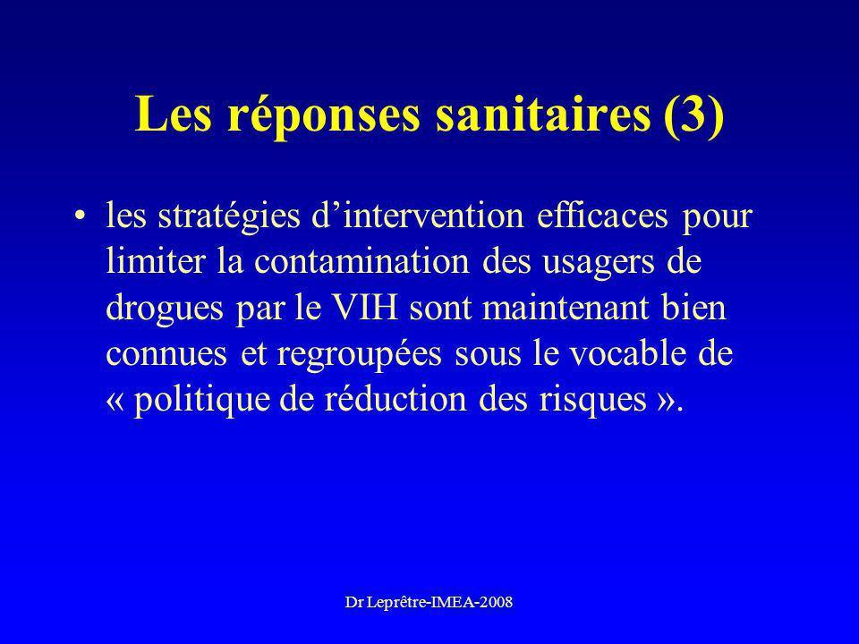 Les réponses sanitaires (3)