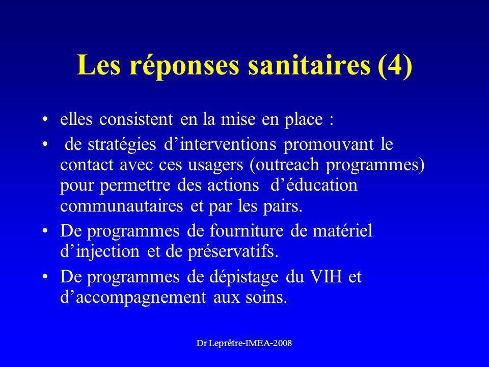 Les réponses sanitaires (4)