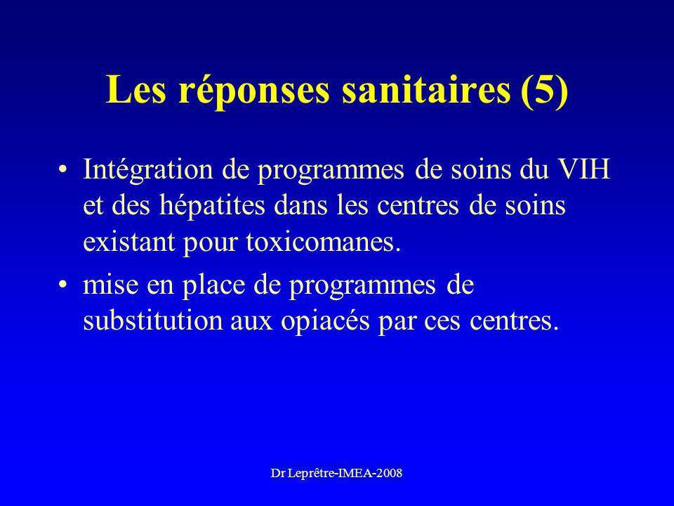 Les réponses sanitaires (5)