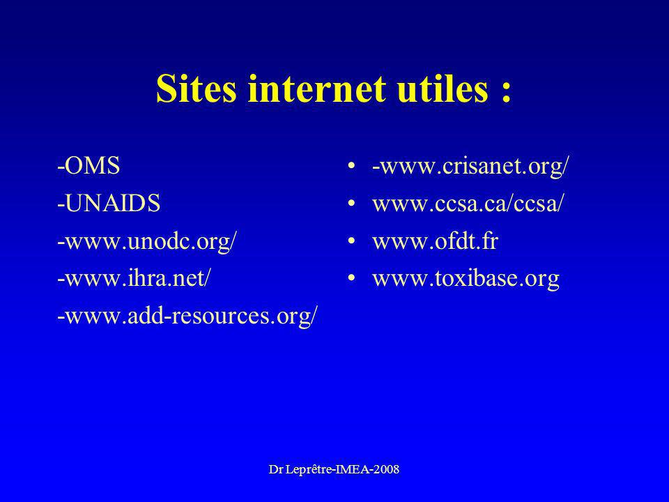 Sites internet utiles :