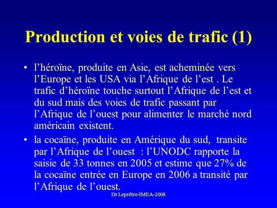 Production et voies de trafic (1)