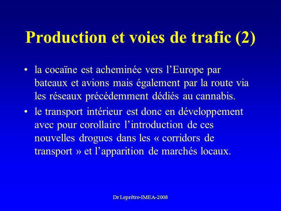 Production et voies de trafic (2)