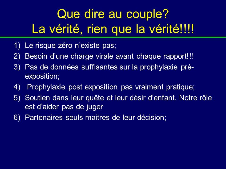 Que dire au couple La vérité, rien que la vérité!!!!