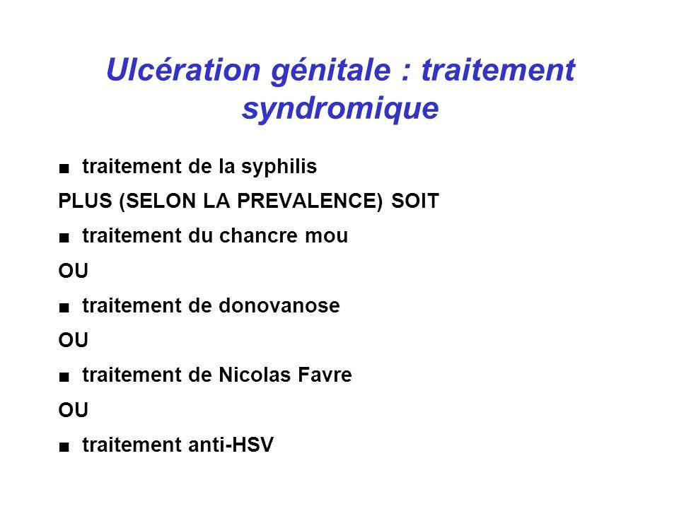 Ulcération génitale : traitement syndromique