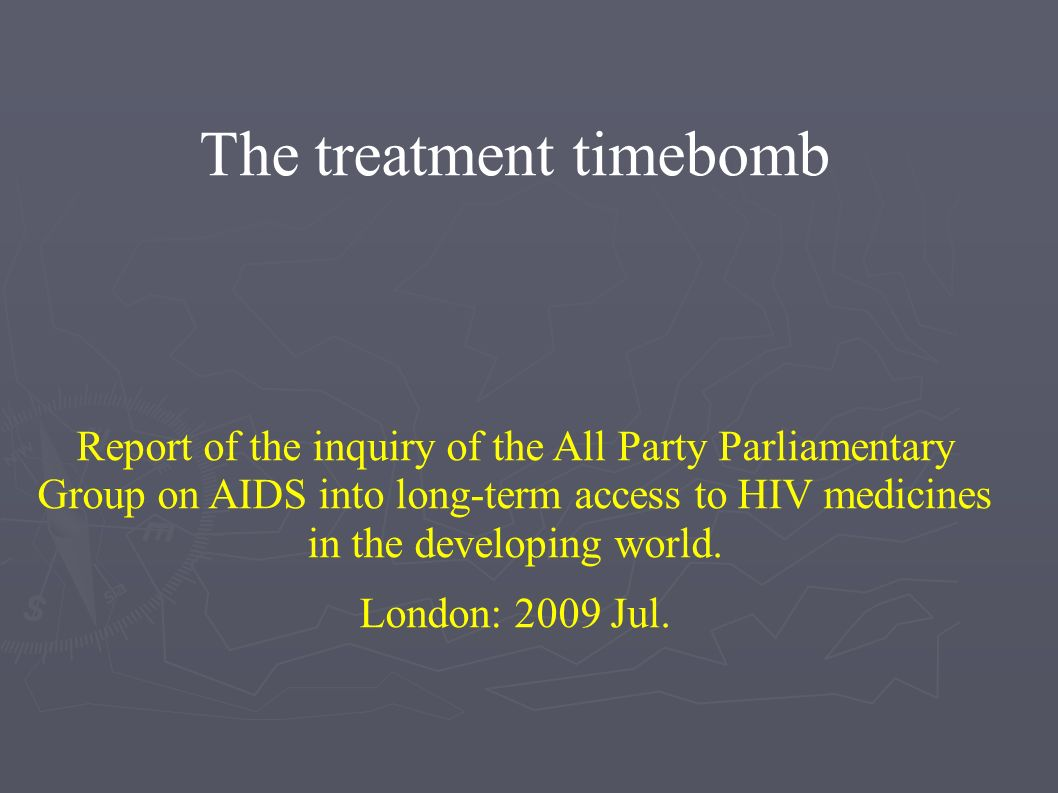 The treatment timebomb