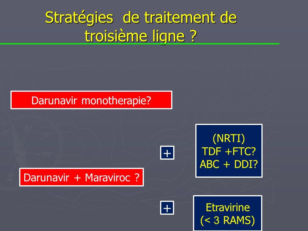 Stratégies de traitement de troisième ligne