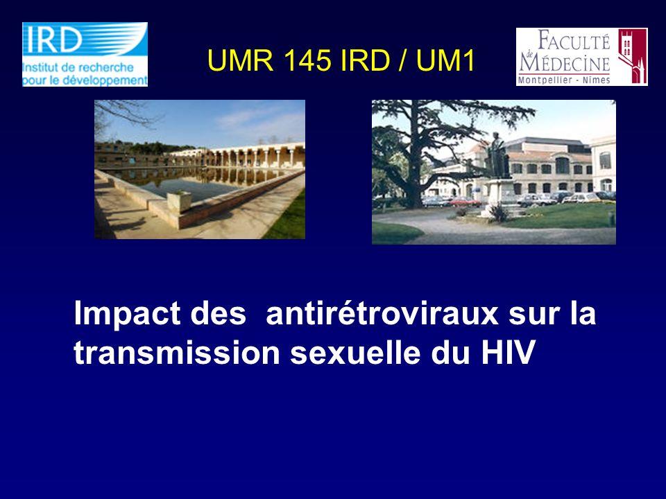 Impact des antirétroviraux sur la transmission sexuelle du HIV