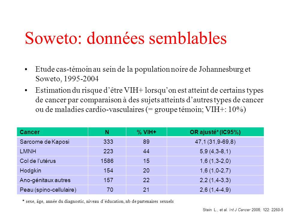 Soweto: données semblables