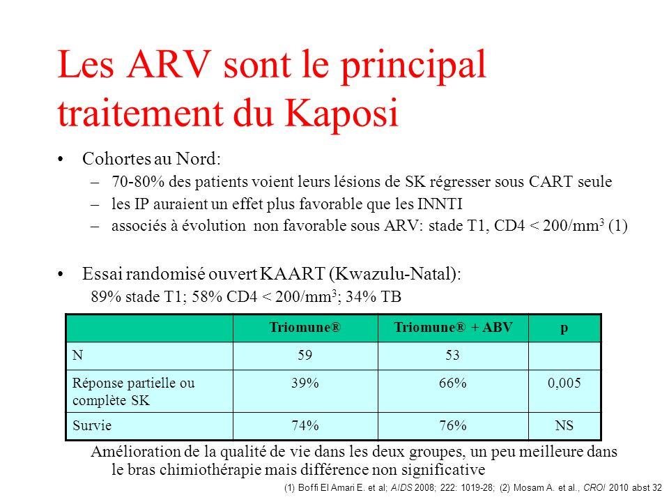 Les ARV sont le principal traitement du Kaposi