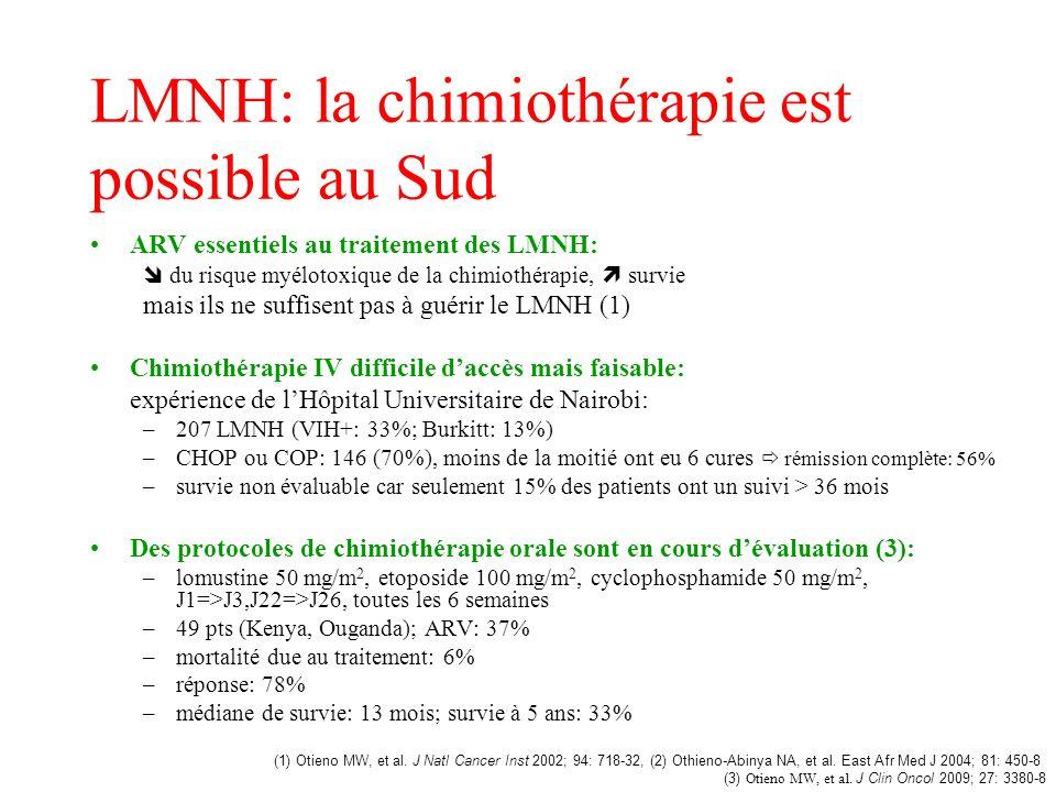 LMNH: la chimiothérapie est possible au Sud