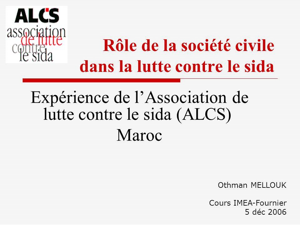 Rôle de la société civile dans la lutte contre le sida
