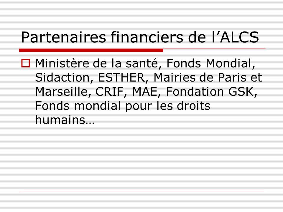 Partenaires financiers de l'ALCS