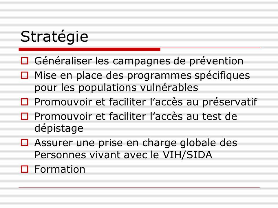 Stratégie Généraliser les campagnes de prévention
