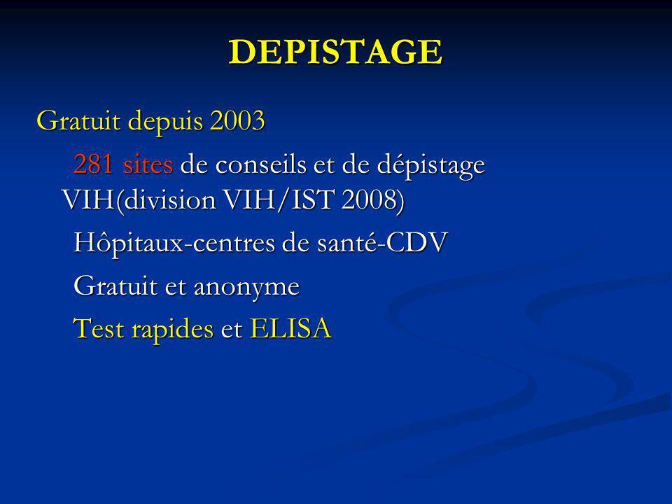 DEPISTAGE Gratuit depuis 2003