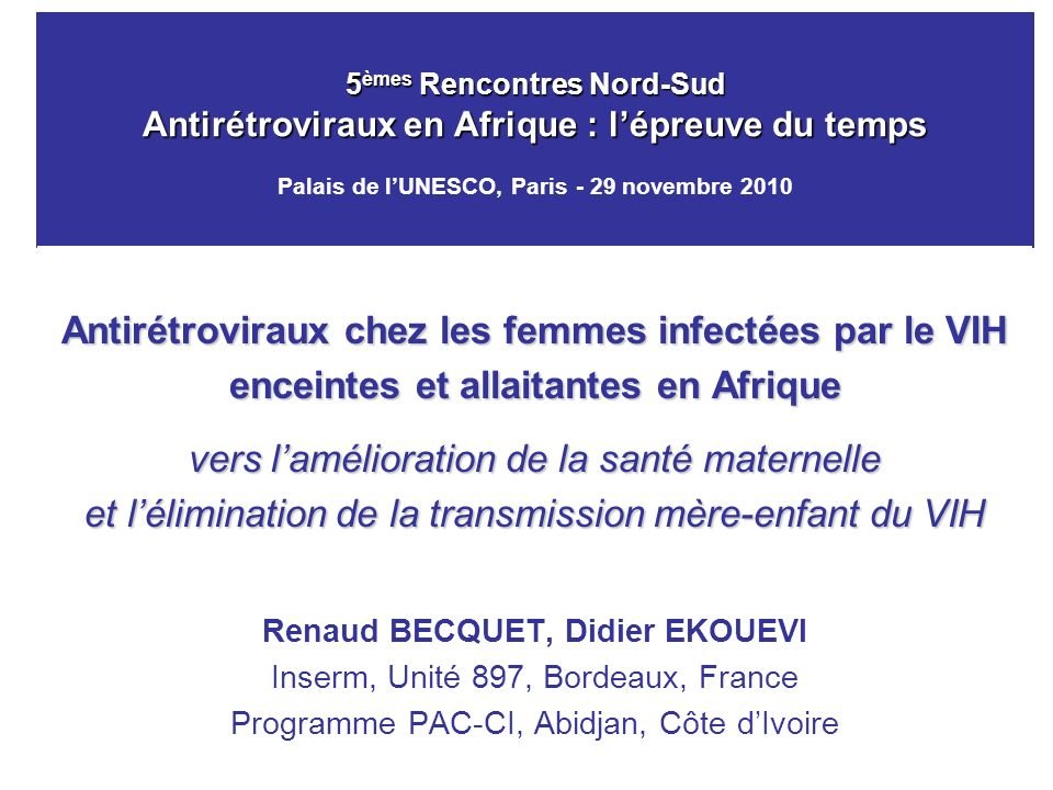 Antirétroviraux chez les femmes infectées par le VIH