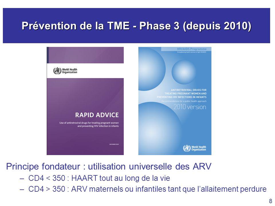 Prévention de la TME - Phase 3 (depuis 2010)