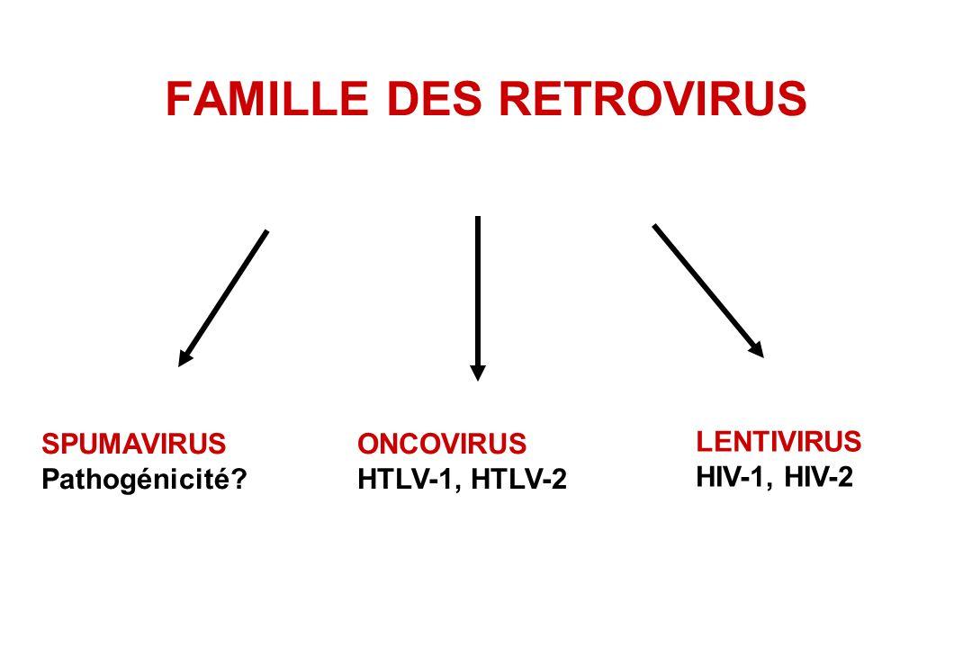 FAMILLE DES RETROVIRUS