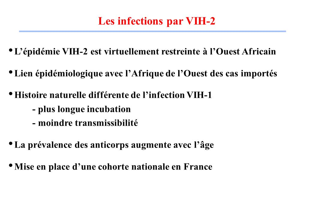 Les infections par VIH-2