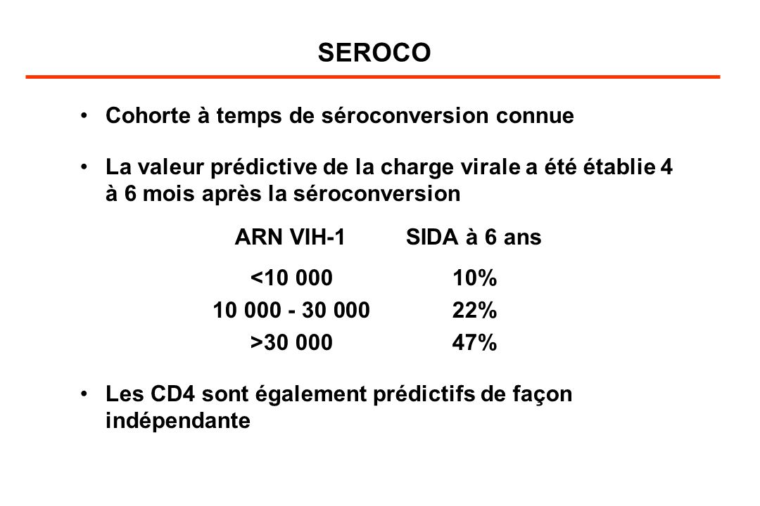 SEROCO Cohorte à temps de séroconversion connue