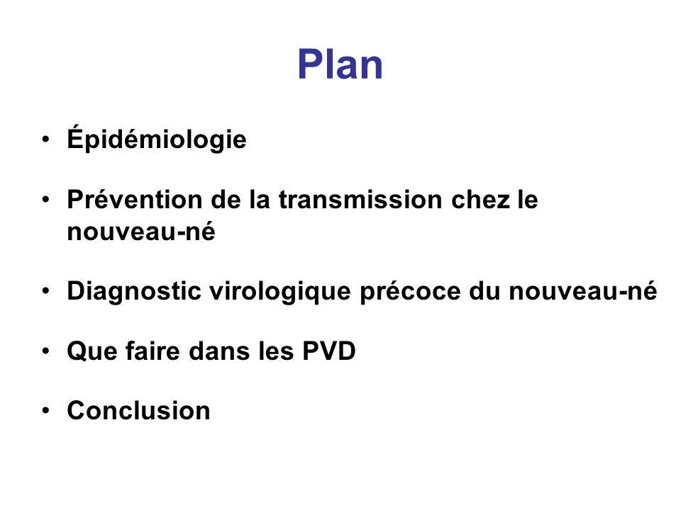 Plan Épidémiologie Prévention de la transmission chez le nouveau-né