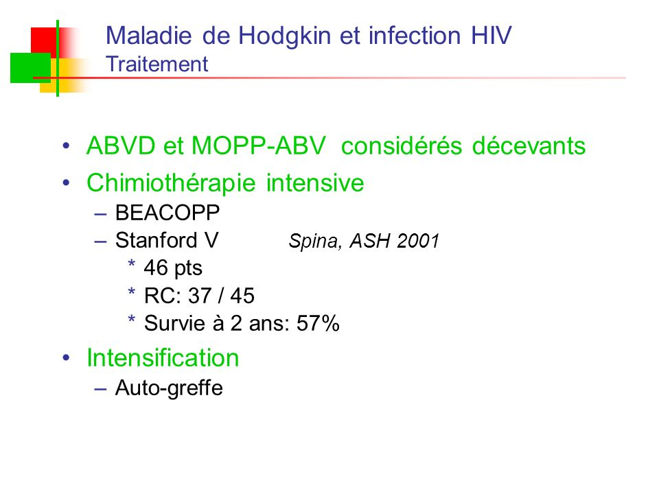 Maladie de Hodgkin et infection HIV
