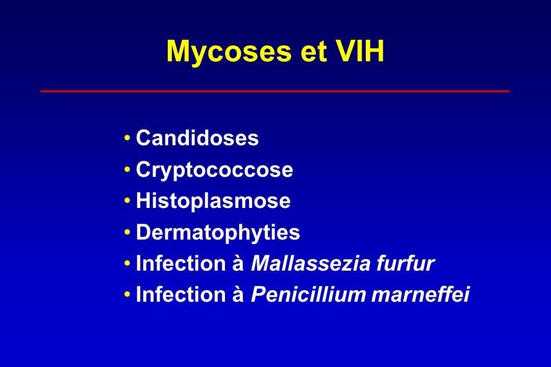 Mycoses et VIH Candidoses Cryptococcose Histoplasmose Dermatophyties