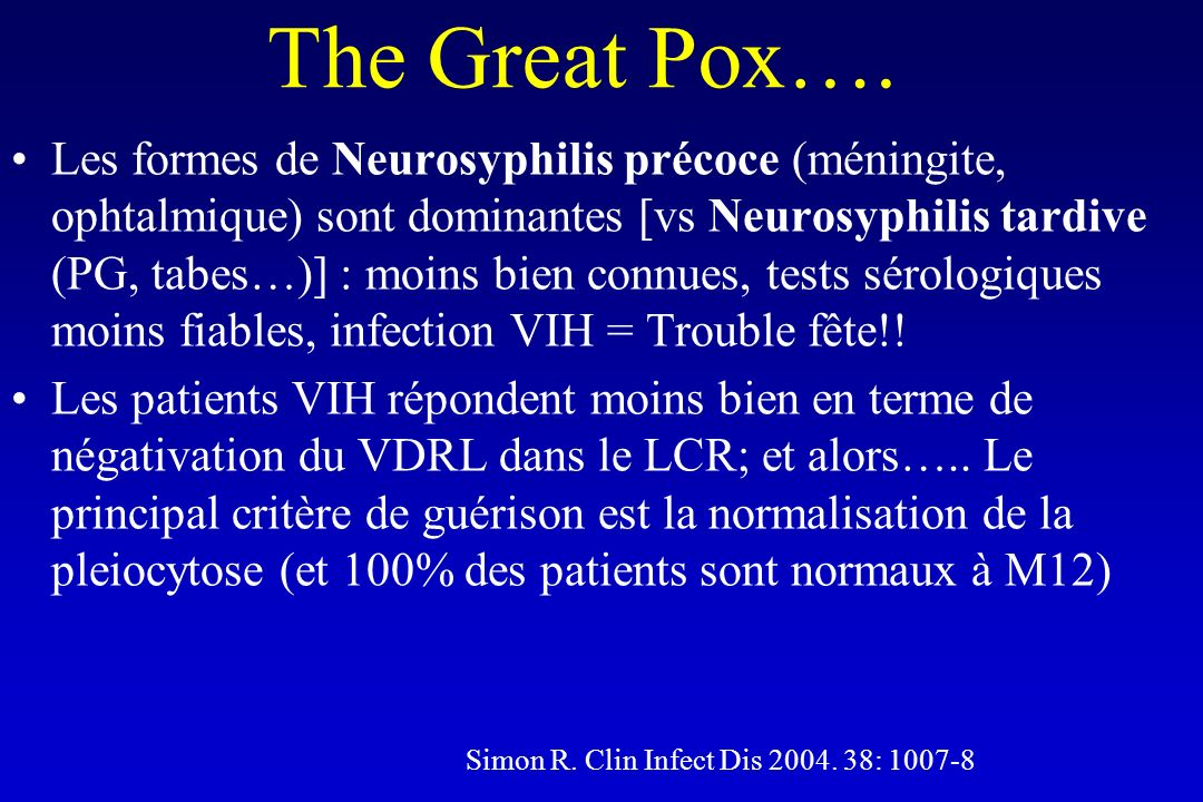 The Great Pox….