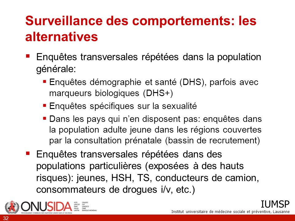 Surveillance des comportements: les alternatives