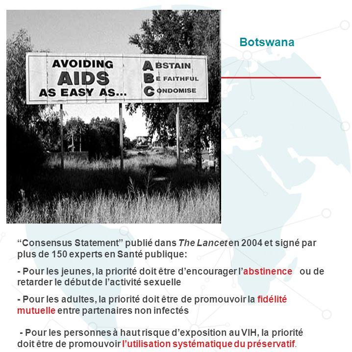Botswana Qu'en est -il de la prévention des comportements sexuels à risque
