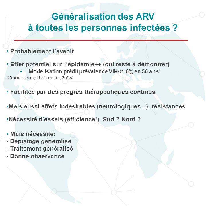Généralisation des ARV à toutes les personnes infectées