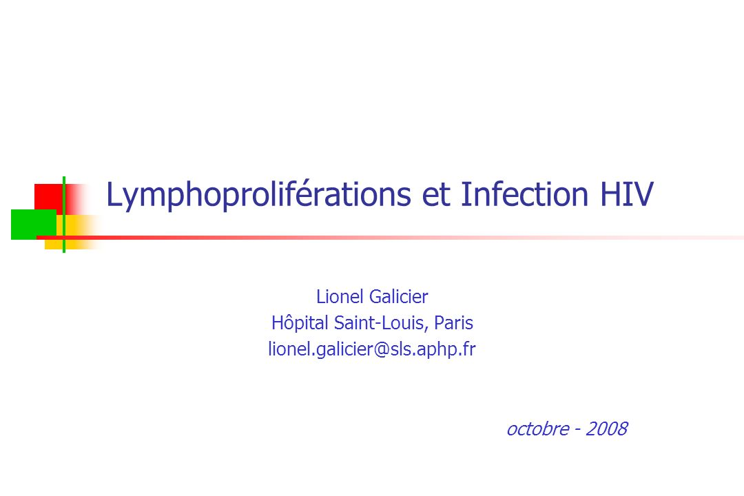 Lymphoproliférations et Infection HIV
