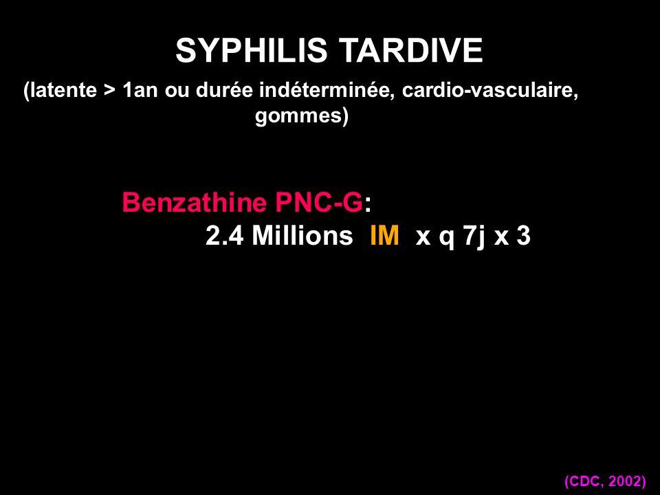 (latente > 1an ou durée indéterminée, cardio-vasculaire, gommes)