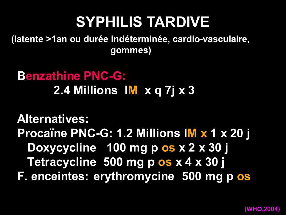 (latente >1an ou durée indéterminée, cardio-vasculaire, gommes)