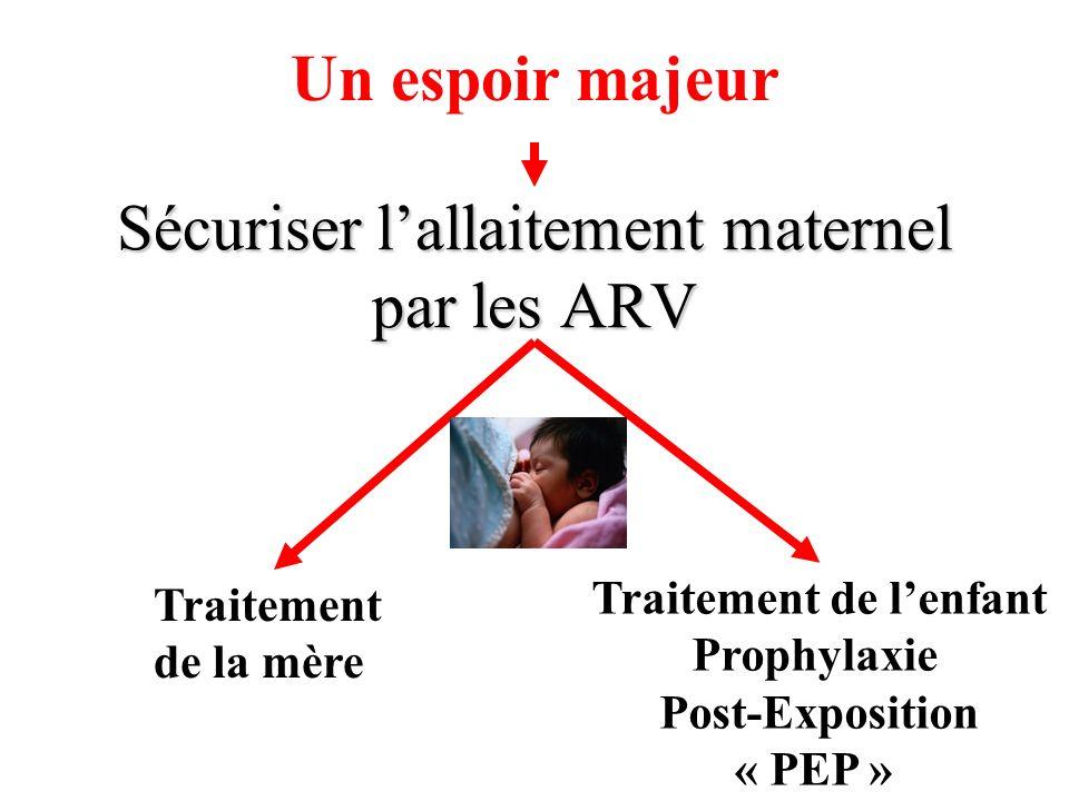 Sécuriser l'allaitement maternel par les ARV