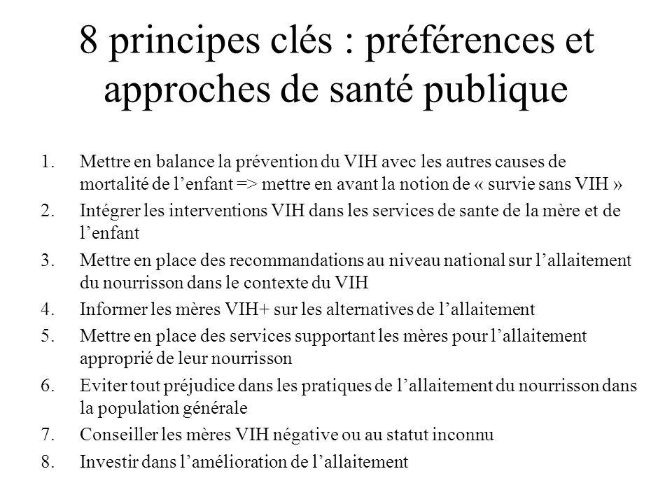 8 principes clés : préférences et approches de santé publique