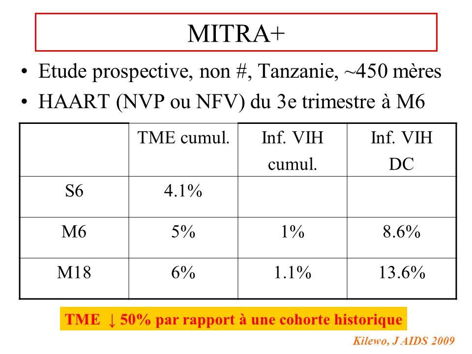 MITRA+ Etude prospective, non #, Tanzanie, ~450 mères