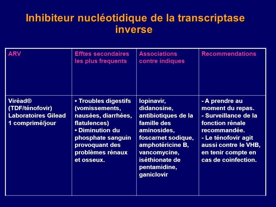 Inhibiteur nucléotidique de la transcriptase inverse