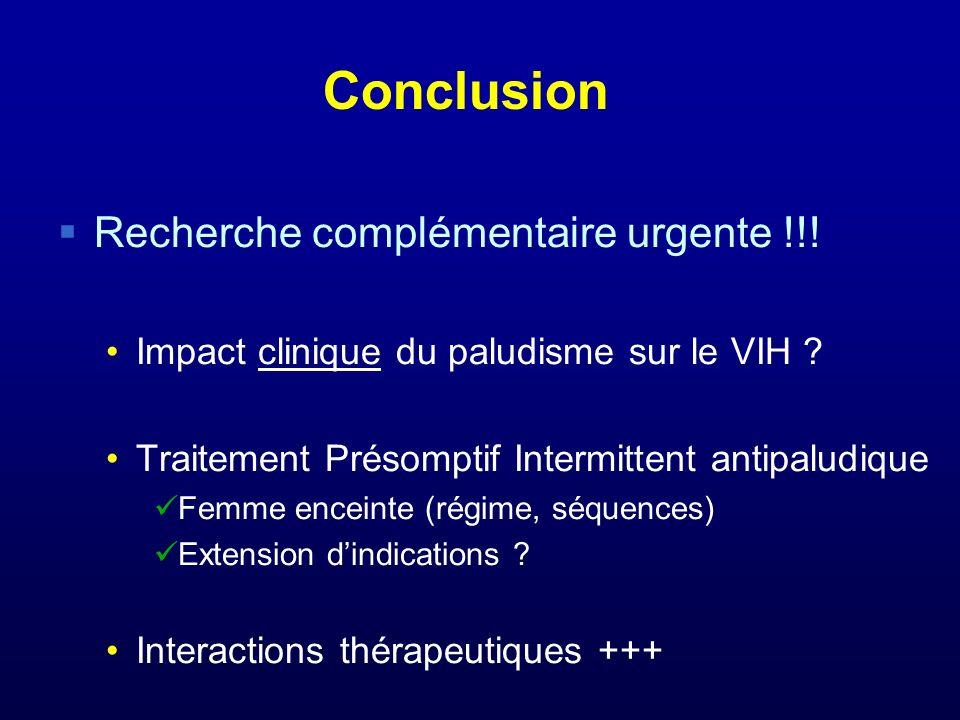 Conclusion Recherche complémentaire urgente !!!