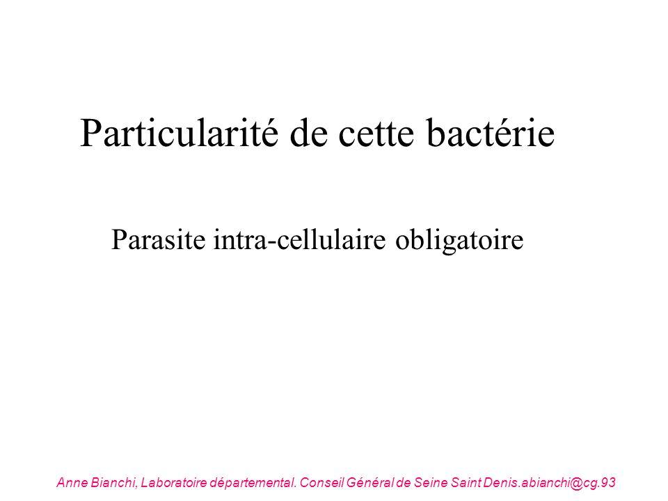 Particularité de cette bactérie